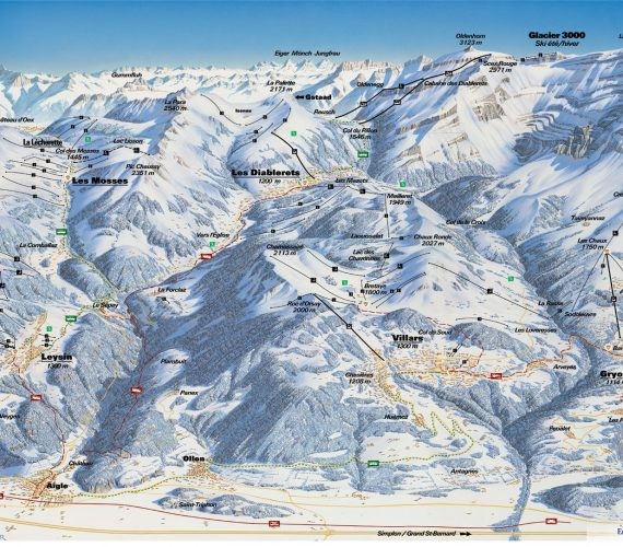 Villars – a ski area with more than 225 km of skiing between 1'300 and 3'000 meters